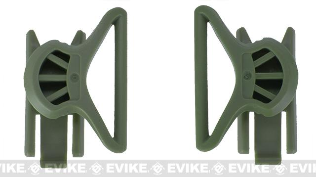 Avengers Goggle Swivel Clips for Bump Helmet - OD Green (Large)
