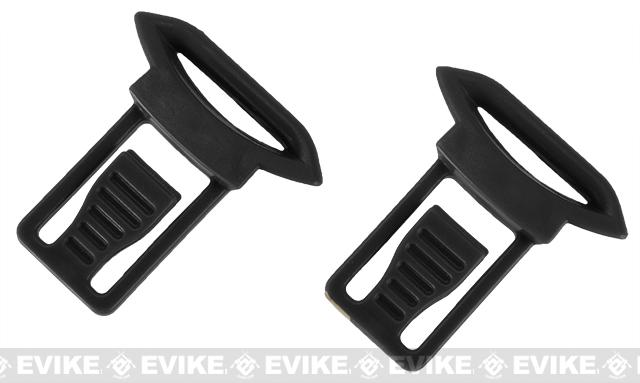 Emerson Replacement Standard Strap Clips for Bump Helmet Rails (Color: Black)