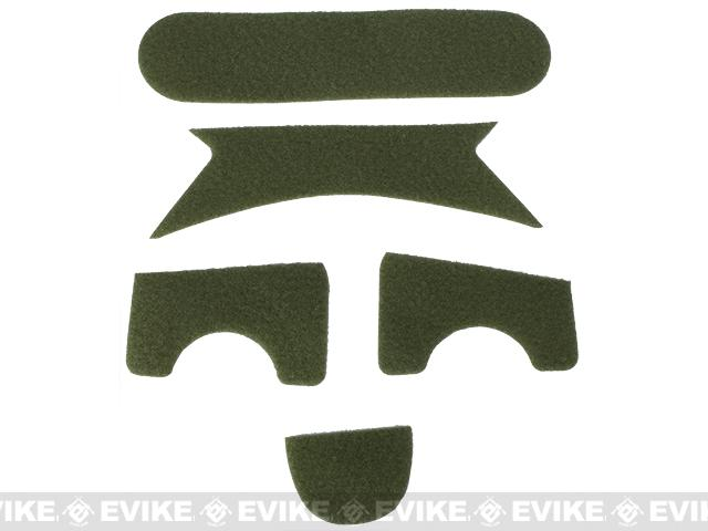 Emerson Hook and Loop  Adhesive Strips for MICH Type Helmets - OD Green