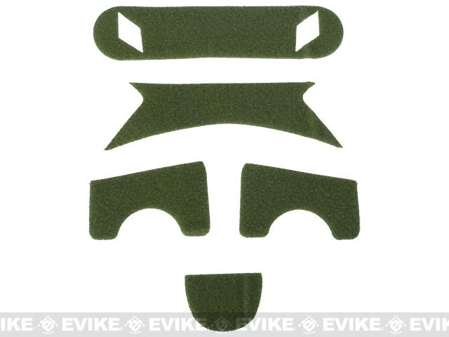 Emerson Loop Adhesive Strips for BJ Type Bump Helmets - OD Green