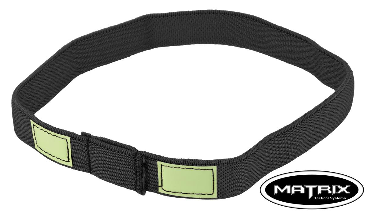 Matrix Glow-in-the-Dark Helmet Cat Eye Band - (Color: Black)