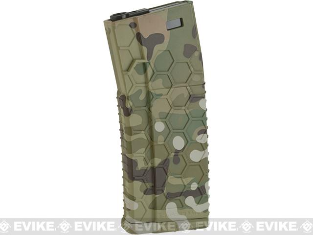 Hexmag Airsoft 120rds Polymer Mid-Cap Magazine for M4 / M16 Series Airsoft AEG Rifles(Color: Multicam / Single)