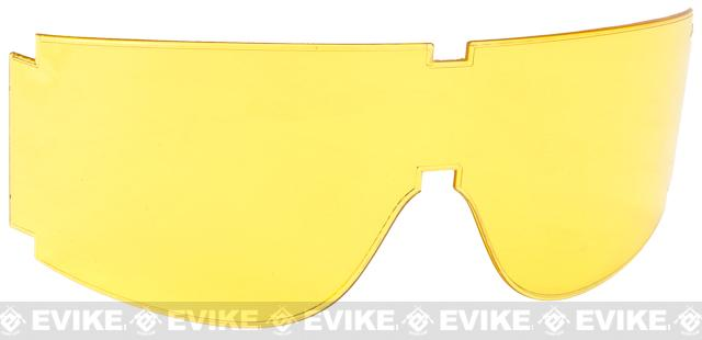 Spare lens for BOLLE Guarder T-800 GX-800 GX-1000 Series Shooting Goggles - Yellow