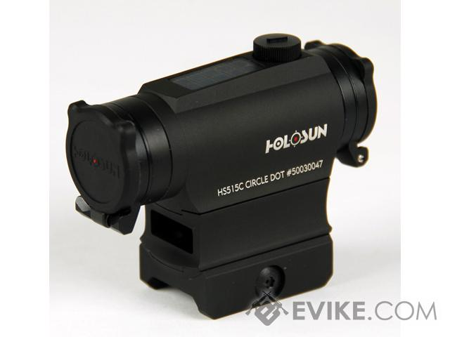 HOLOSUN HS515C Solar / Battery Powered Dual Reticle Compact Red Dot Sight w/ High Mount