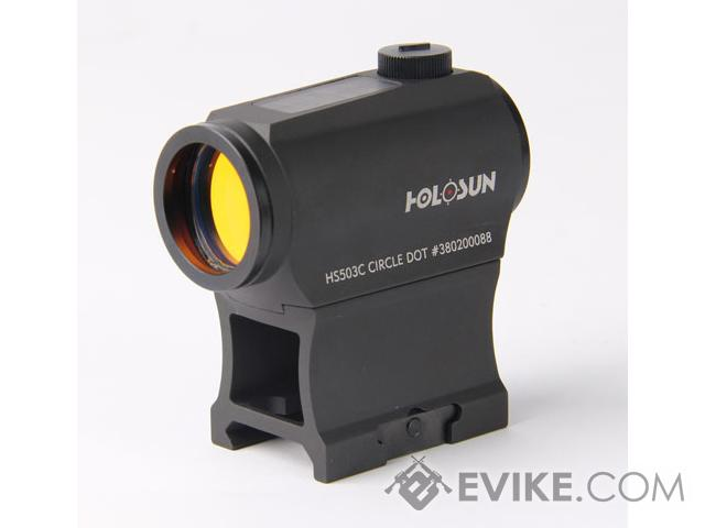 HOLOSUN HS503C Solar / Battery Powered Dual Reticle Compact Red Dot Sight w/ High & Low Mounts