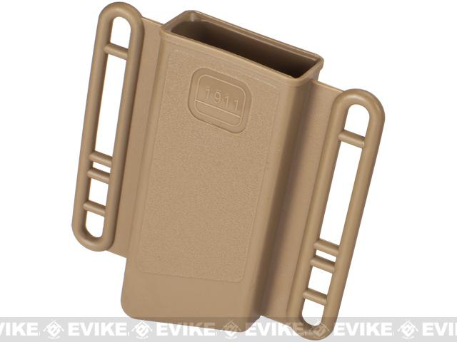 Avengers Mag Holster for Airsoft 1911 (Single Stack) Series Magazines - Set of 2 (Color: Tan)