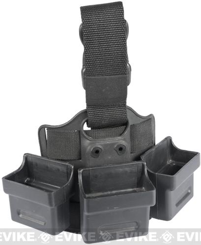 Tactical Hard Shell Drop Leg Quick Draw Triple Mag Carrier - G36