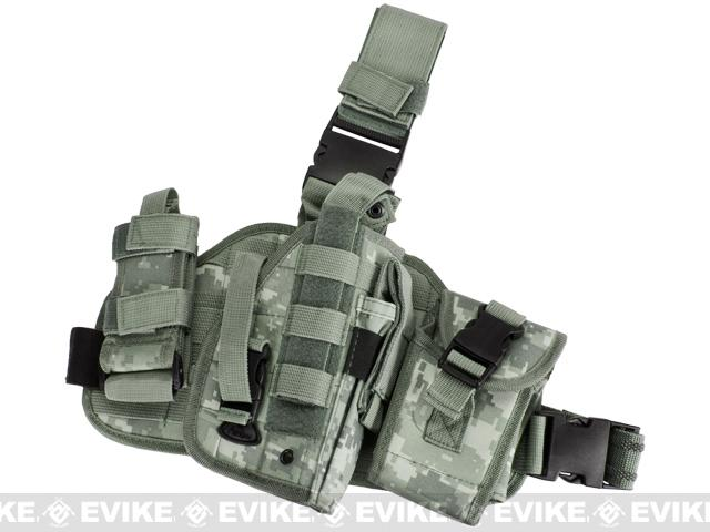 Matrix Drop Leg MOLLE Platform w/ Holster and Pouch Set (Color: ACU)