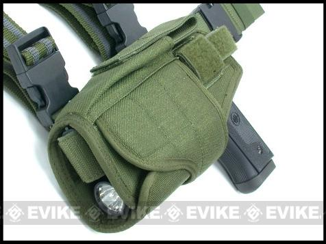 Matrix Tornado Universal Tactical Thigh / Drop Leg Holster (Color: OD Green / Left)
