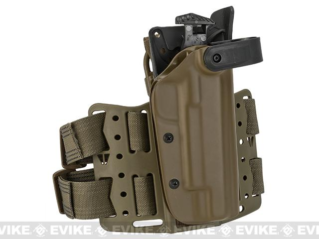 Blade-Tech WRS Level II Duty Holster w/ Thigh Rig (Pistol: 1911 Govt. / Right Hand / Dark Earth)