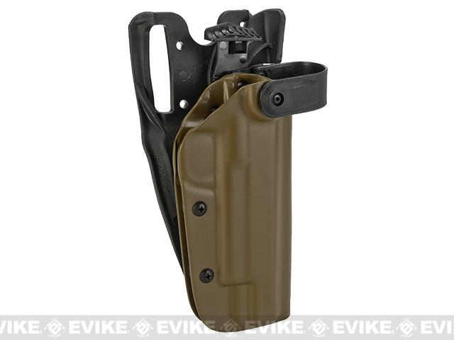 Blade-Tech WRS Level II Duty Holster w/ Duty Dropped Offset Belt Mount - 1911 5 w/ Rail (Right Hand - Dark Earth)