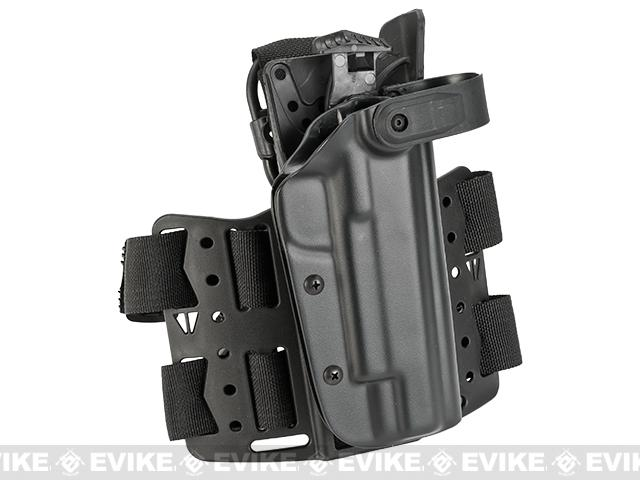Blade-Tech WRS Level II Duty Holster w/ Thigh Rig - 1911 5 (Right Hand - Black)