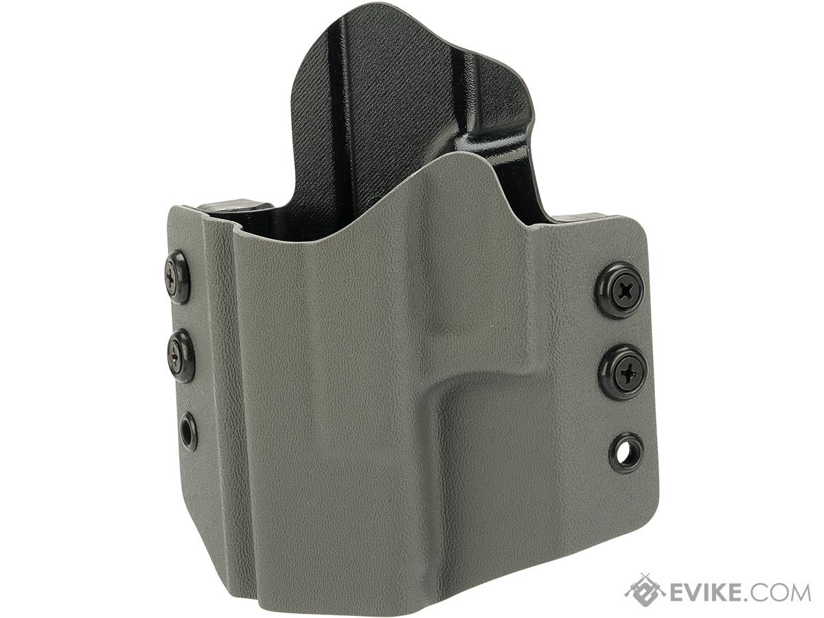High Speed Gear Inc OWB Kydex Holster for Glock Pistols (Model: Glock 19 23 32 / Left Hand / Wolf Gray)