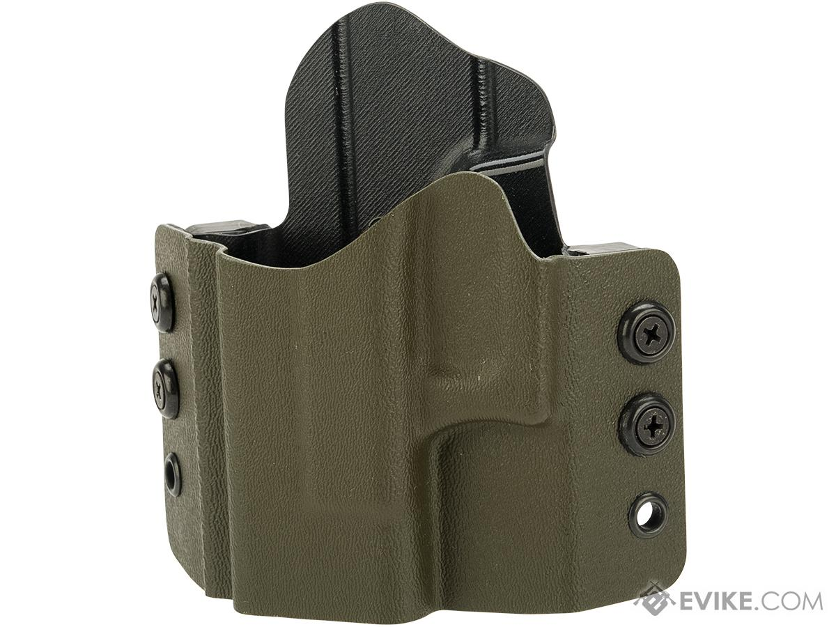 High Speed Gear Inc OWB Kydex Holster for Glock Pistols (Model: Glock 26 27 28 33 / Left Hand / Olive Drab)
