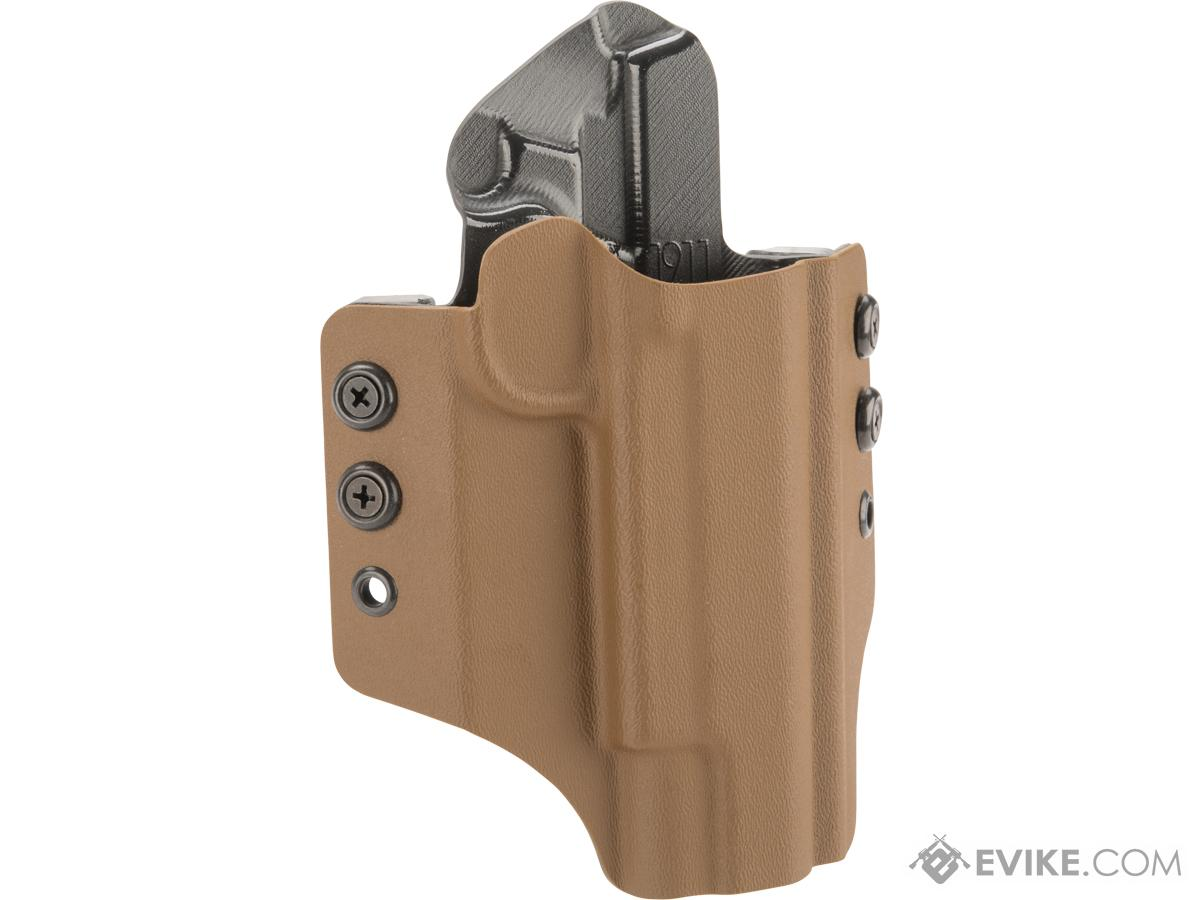 High Speed Gear Inc OWB Kydex Holster For 1911 Pistols (Model: 1911 Operator with Rails / Right Hand / Coyote)