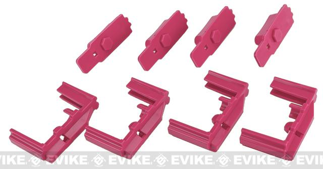Hexmag HexID Color System (4x Hexgon Latchplates / 4x Followers) for Real Hexmag AR Magazines (Color: Panther Pink)