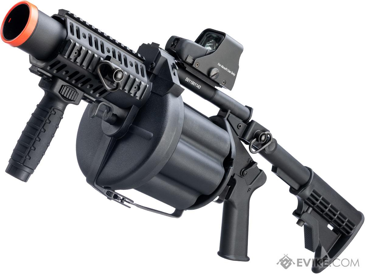 ICS MGL Full Size Airsoft Revolver Grenade Launcher (Color: Black)
