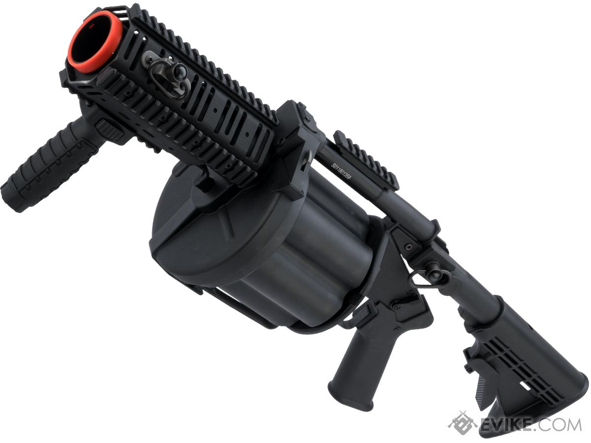 ICS MGL Full Size Airsoft Revolver Grenade Launcher (Color: Black Gen.2 Short)