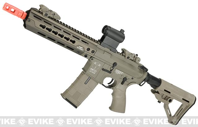 ICS CXP HOG Keymod Airsoft AEG (Color: Tan / Rear Wired)