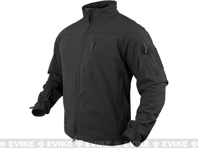 Condor Tactical Phantom Soft Shell Jacket - Black (Size: Large)