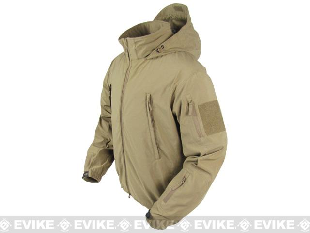 Condor Summit Zero Lightweight Soft Shell Jacket - Tan (Size: Large)