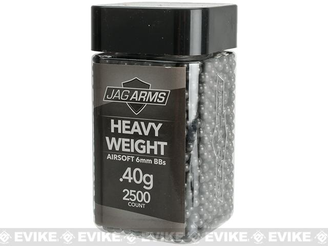 JAG Armament Heavyweight Match Grade .40g Airsoft BBs - Black (2500 Rounds)
