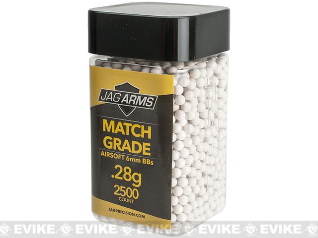 JAG Armament Match Grade .28g Airsoft BBs - White (2500 Rounds)