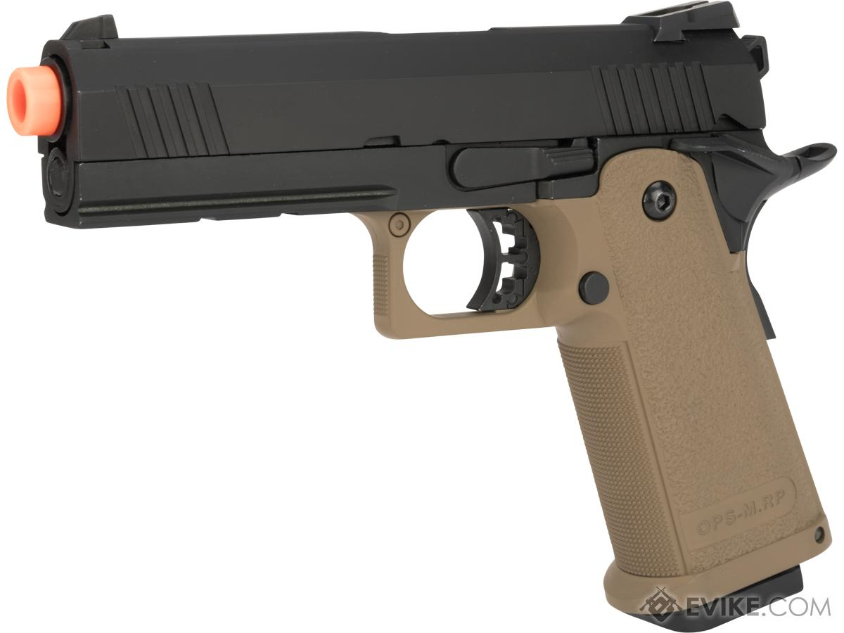 Pre-Order ETA August 2018 JAG Arms GM4 4.3 Gas Blowback Airsoft Pistols (Color: Tan / Black)