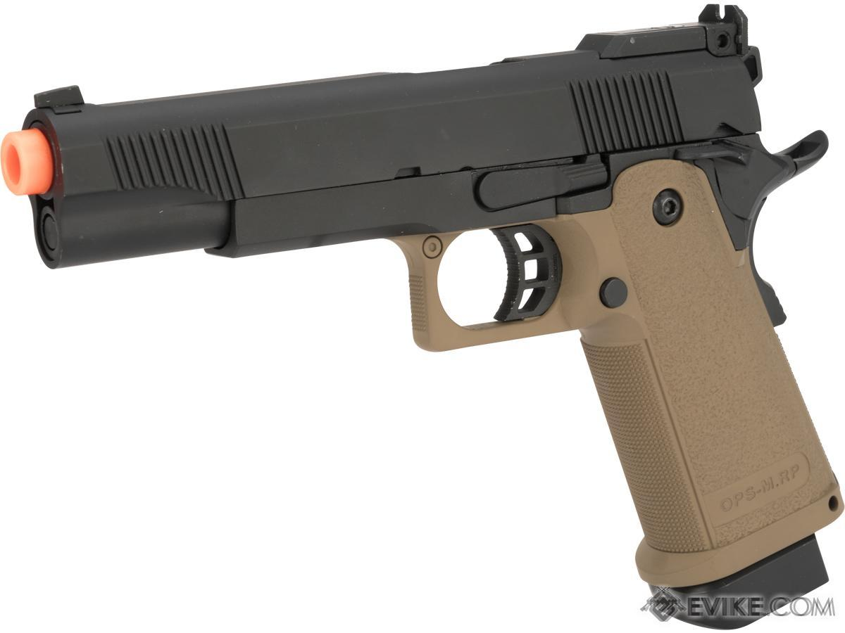 JAG Arms GM5 5.1 Gas Blowback Airsoft Pistols (Color: Black / Tan)