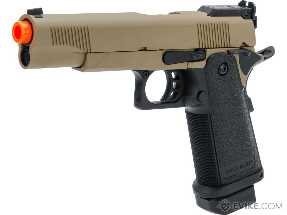 JAG Arms GM5 5.1 Gas Blowback Airsoft Pistols (Color: Tan / Black)