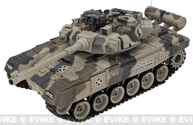 1:20 Scale RC Airsoft Battle Tank - T-90 (Desert Camo)