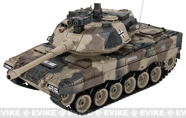 1:20 Scale RC Airsoft Battle Tank - Leopard 2 (Desert Camo)