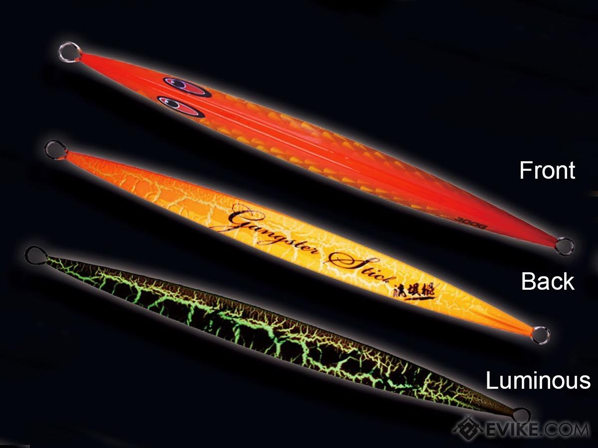 Jigging Master Gangster Jig Tri-Facet Laser / Anodized Luminous Iron Jig (Model: 350g / #05)