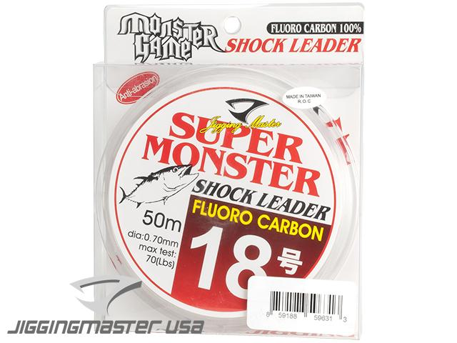 Jigging Master Super Monster 100% Fluorocarbon leader 50M (Test: 70 Lbs)