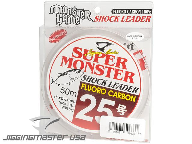 Jigging Master Super Monster 100% Fluorocarbon leader 50M (Test: 90 Lbs)