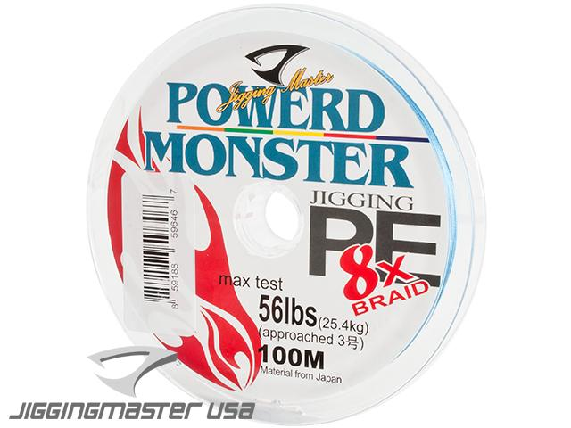 Jigging Master Power Monster 8x Braid PE Line (Size: #3 / 56 Lbs)