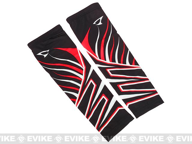Jigging Master UV Cover-Up Arm Sleeves (Color: Black / Red)