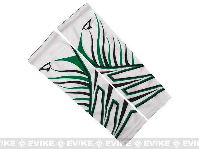 Jigging Master UV Cover-Up Arm Sleeves (Color: White / Green)