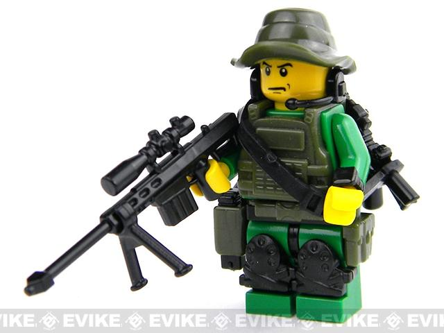Battle Brick Customs Military Mini-Figure - Green Special Forces Sniper