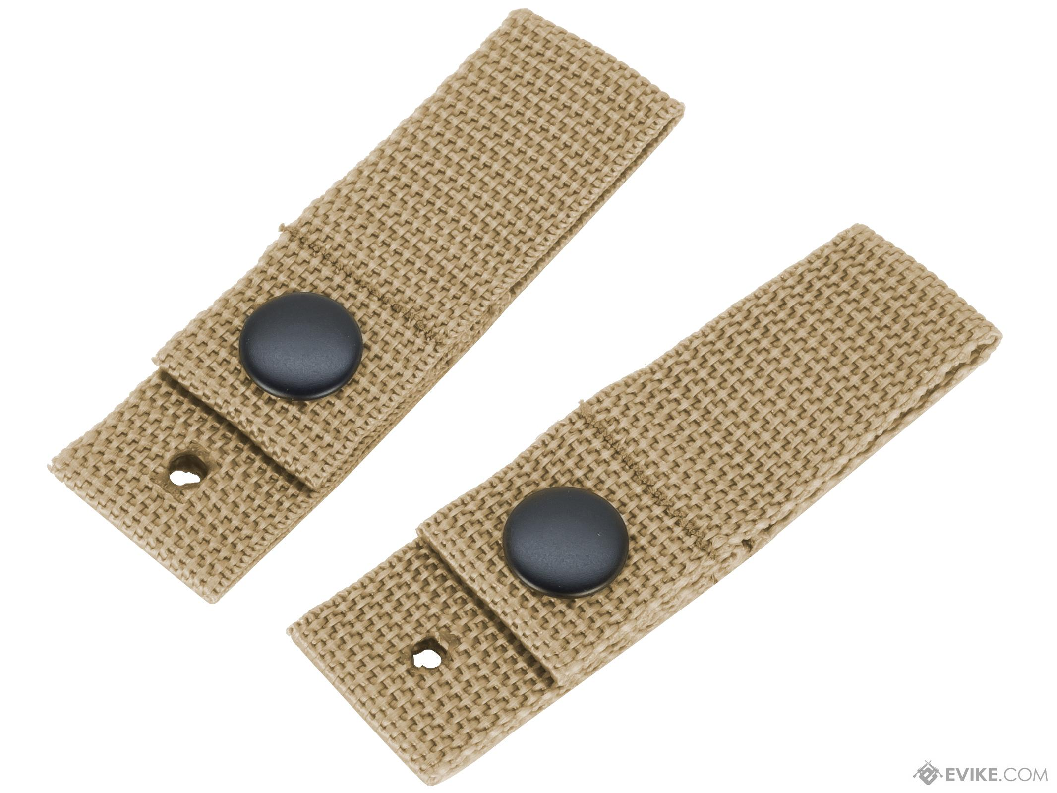 King Arms Goggle Retention Helmet Straps (Color: Tan)