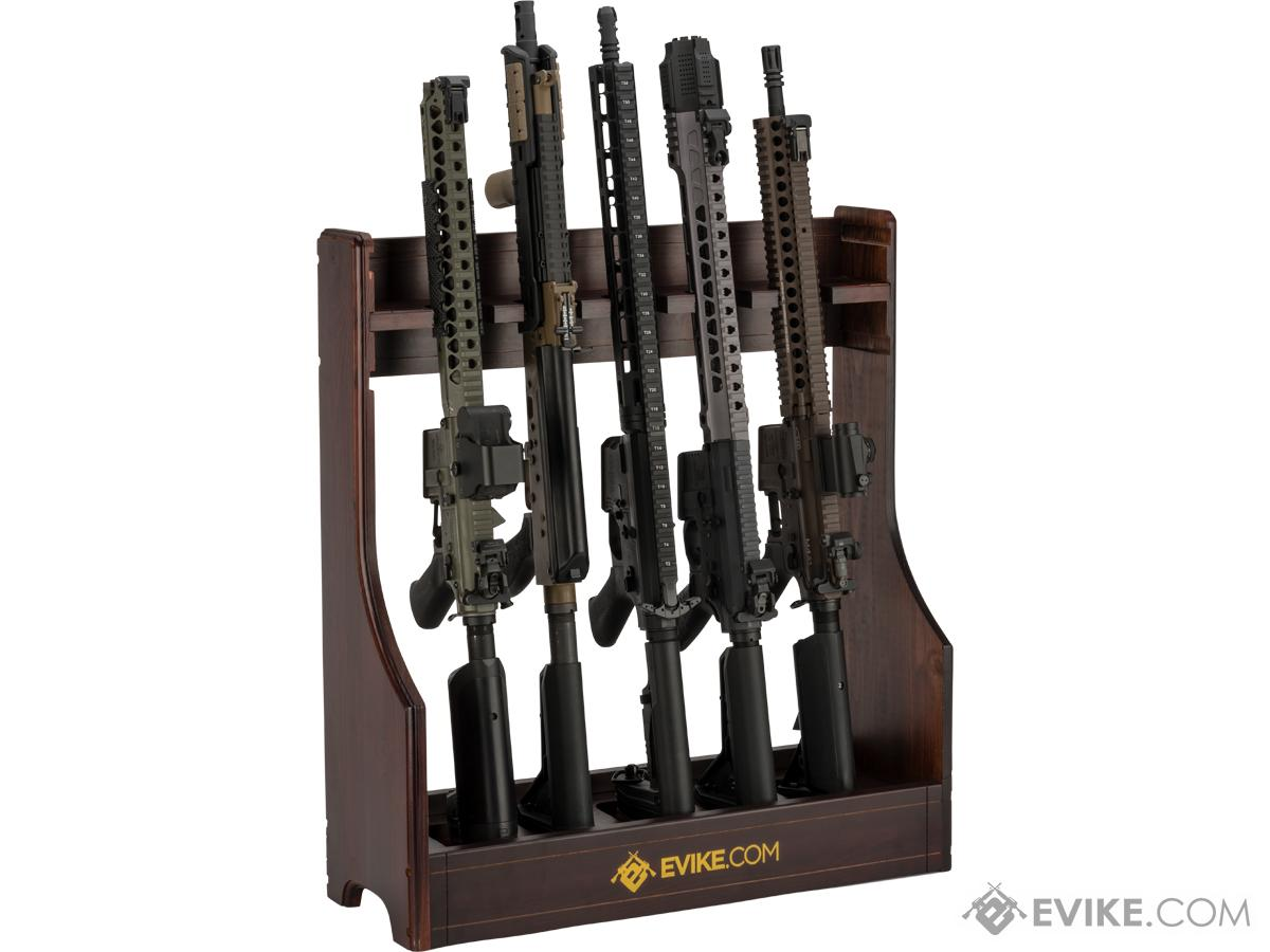 Evike x King Arms Adjustable Deluxe Real Wood Gun Rack