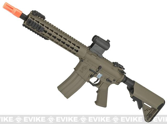 Knights Armament Airsoft SR-16E3 CQB Mod2 Airsoft AEG Rifle with Polymer Receiver by Echo1 (Color: Tan)