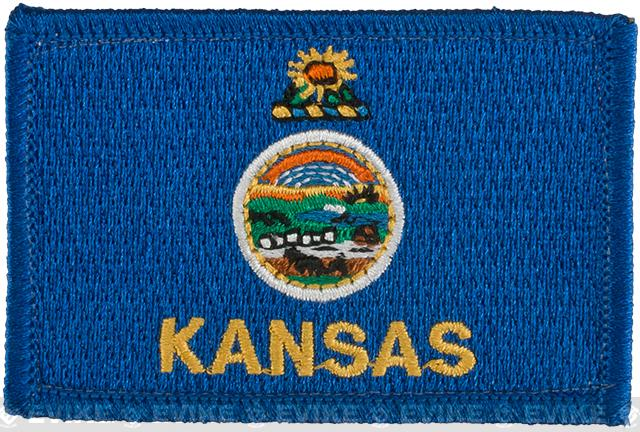 Evike.com Tactical Embroidered Flag Patch (State: Kansas The Sunflower State)