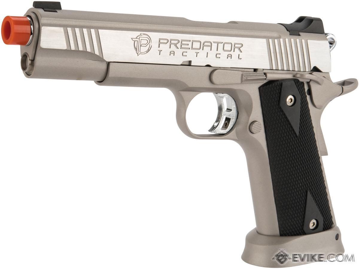 Predator Tactical Iron Shrike Gas Blowback 1911 Pistol by King Arms (Color: Silver / CO2)