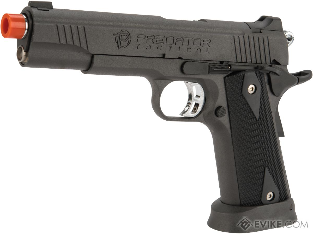 Predator Tactical Iron Shrike Gas Blowback 1911 Pistol by King Arms (Color: Gun Metal / CO2)