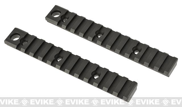 G&P CNC Aluminum Keymod Rail Section - Black (Large)