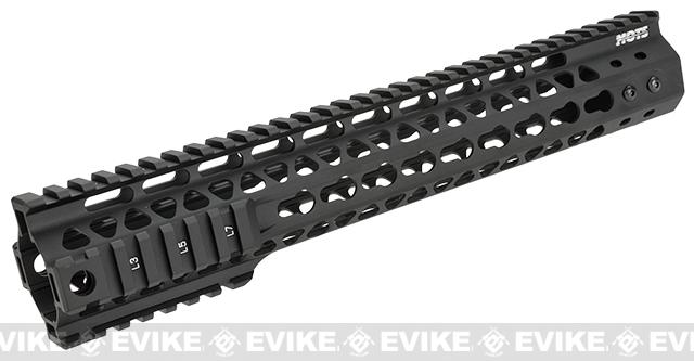 G&P MOTS 12.5 Keymod Rail System for M4 / M16 Series Airsoft Rifles (Color: Black)