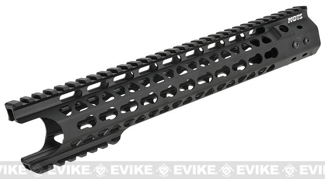 G&P MOTS 12.5 Keymod Breacher Rail System for M4 / M16 Series Airsoft AEG Rifles (Color: Black)