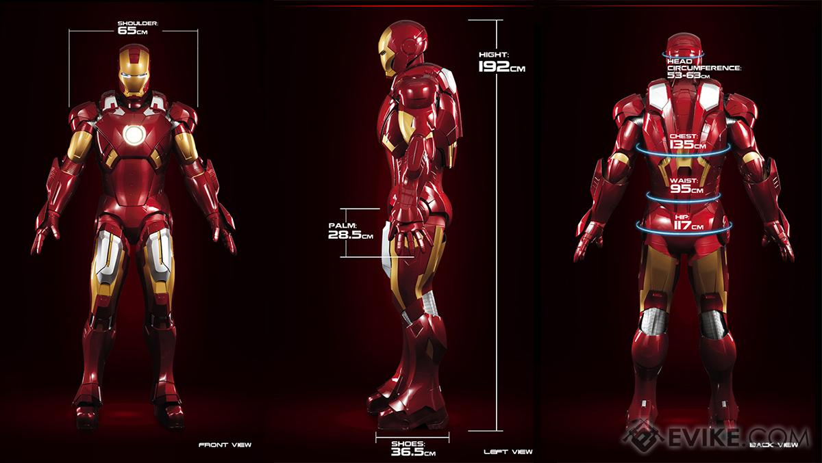 Killerbody Marvel Licensed Iron Man Mk. VII Motorized Wearable Suit ...