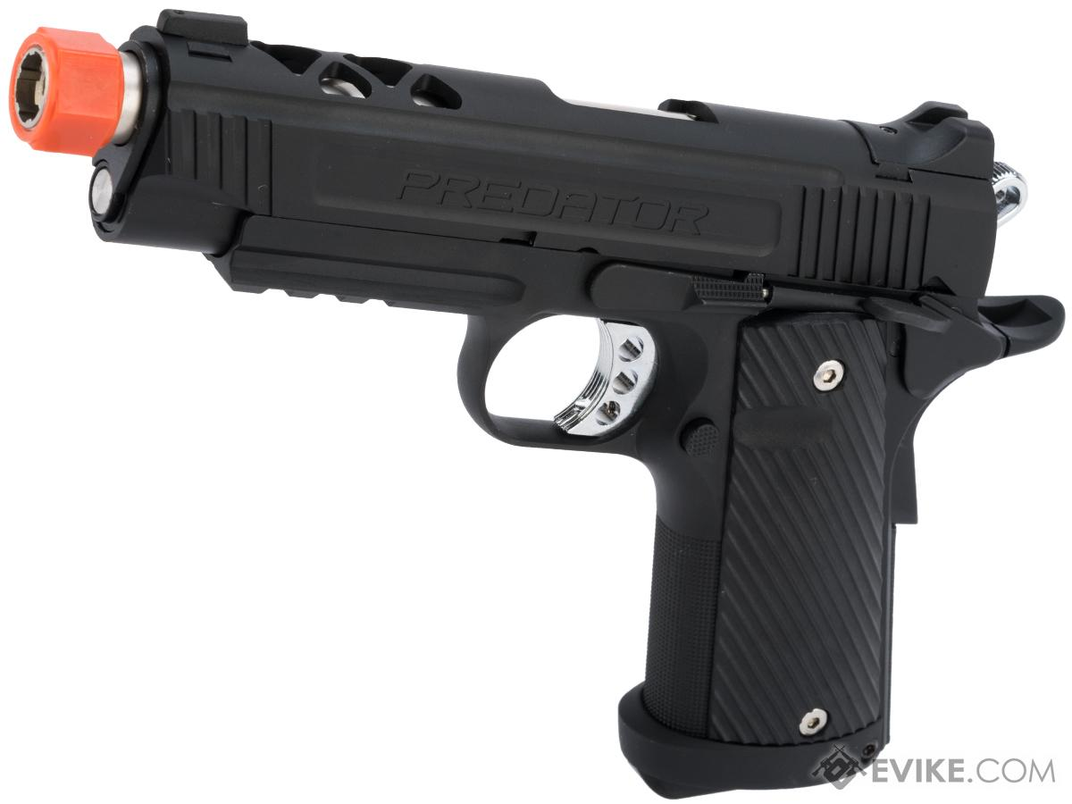 Predator Tactical Night Shrike Gas Blowback 1911 Pistol by King Arms (Color: Custom I / Gas / Rail)